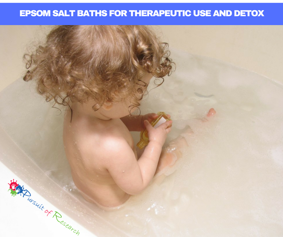EPSOM SALT BATHS FOR THERAPEUTIC USE AND DETOX---