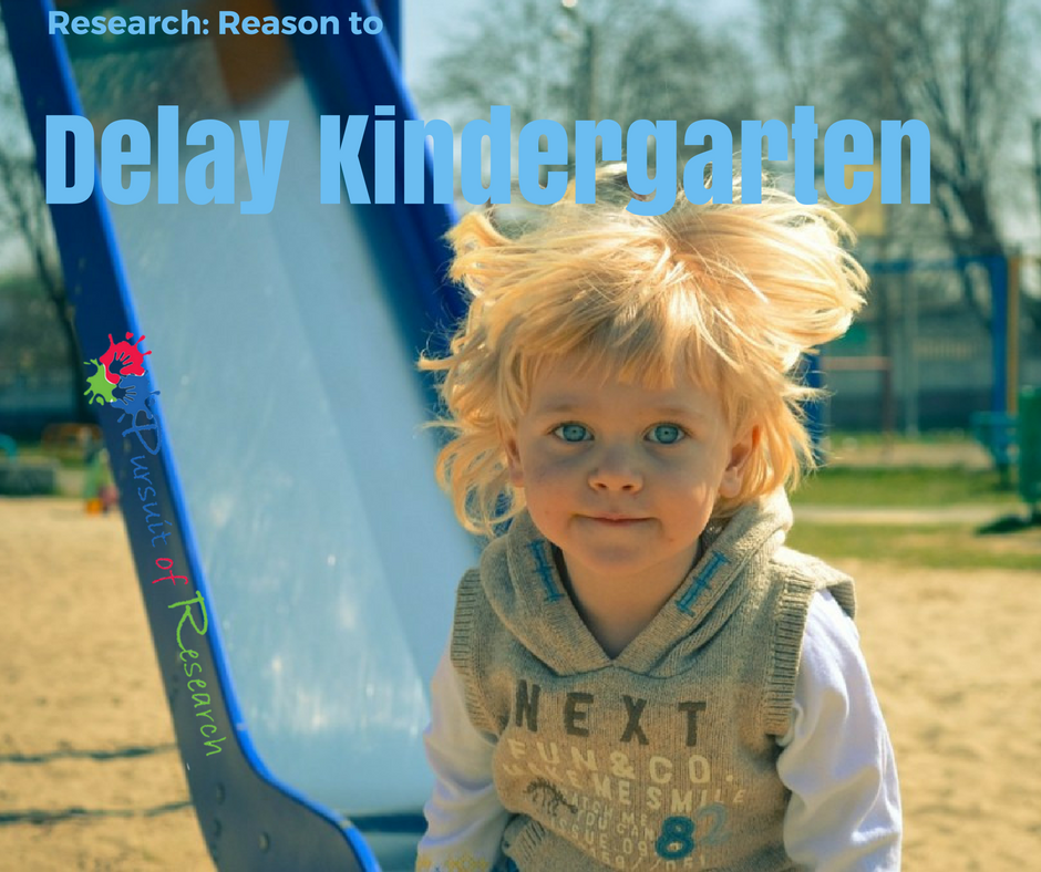 Research: Reason to delay kindergarten