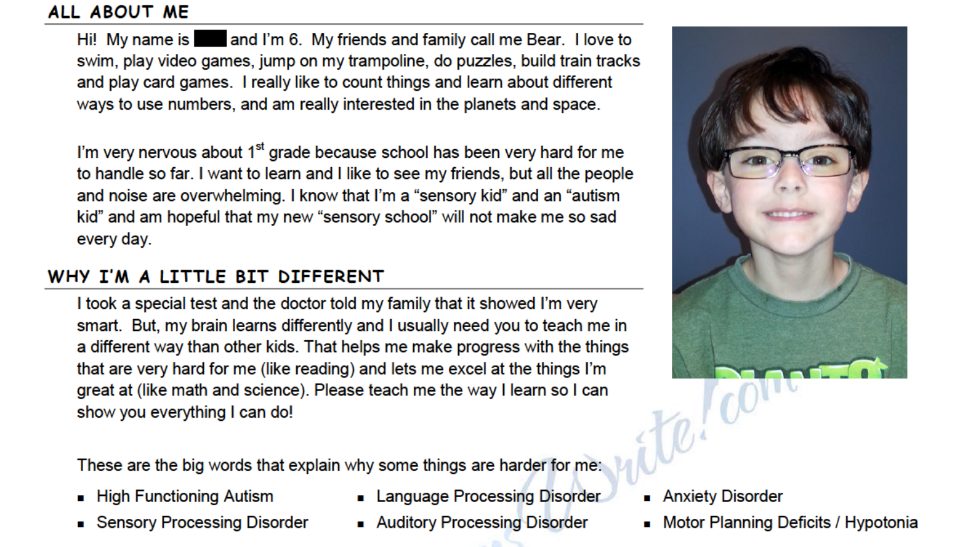 Sample Letters To Your Child S New Teacher For Apraxia