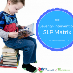 Speech Therapy Matrix For School Based SLPs