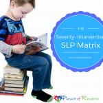 Speech Therapy Matrix For School Based SLPs