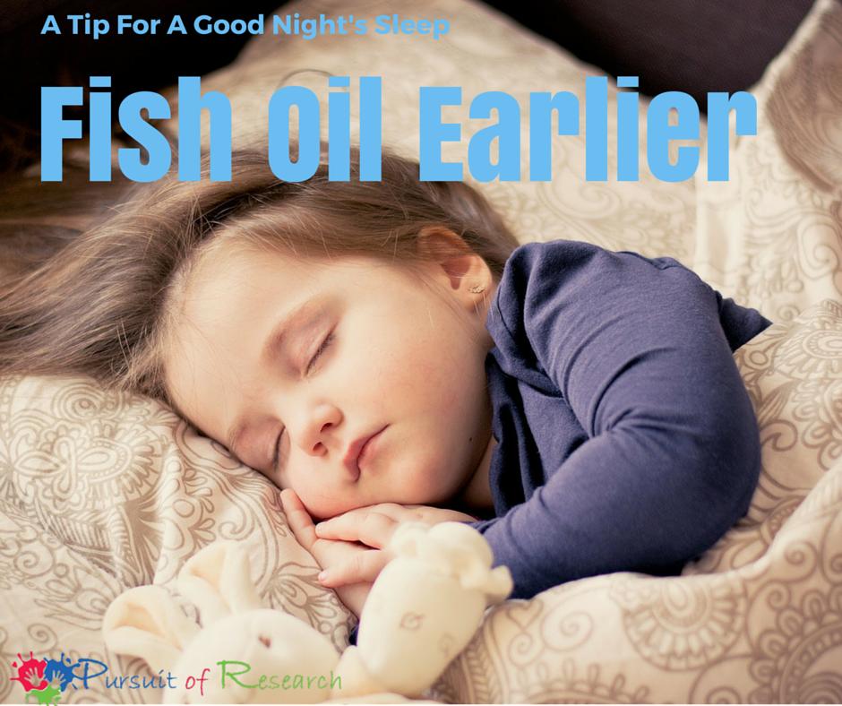 A Tip For A Good Night's Sleep