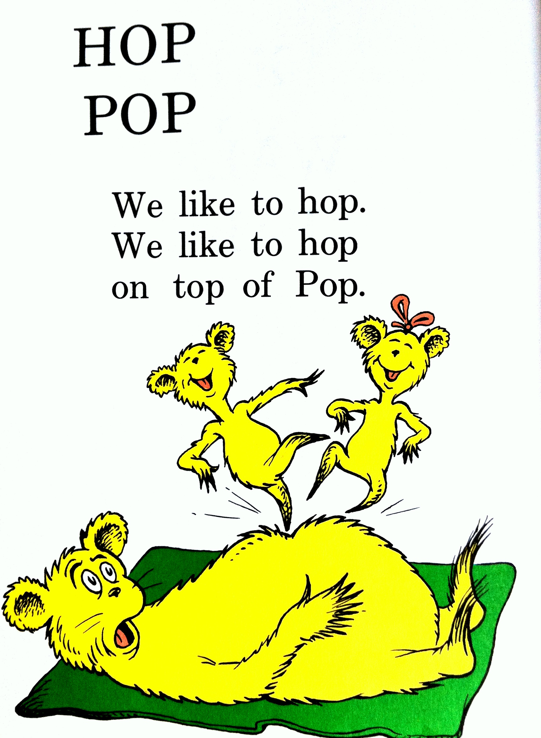 Teaching tips for a speech impaired child for Hop on pop coloring pages