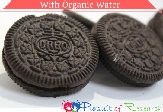 Organic Oreos With- Organic -Water Anyone-