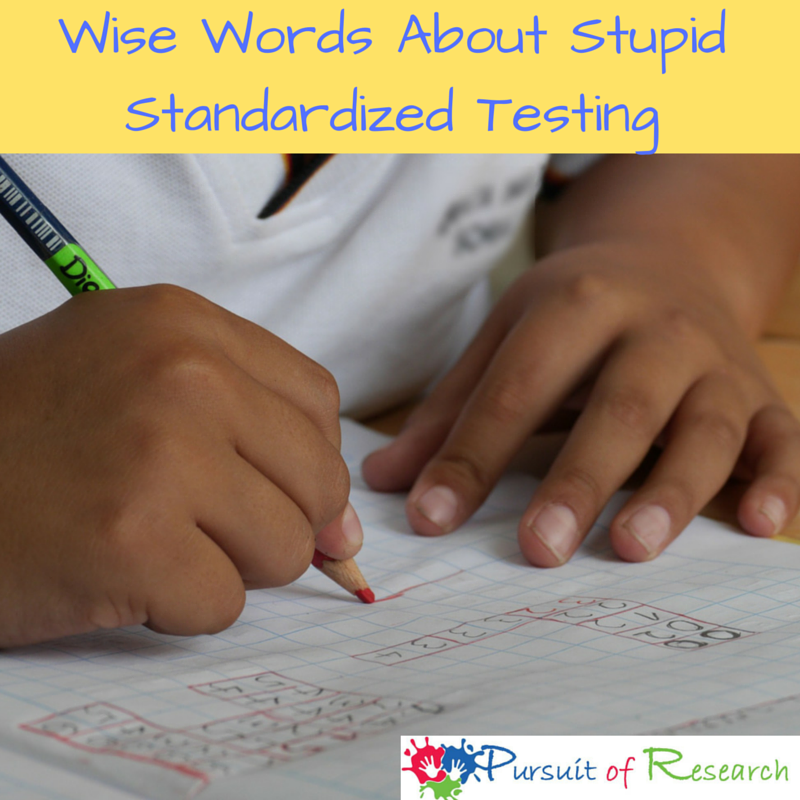 Wise Words About Stupid Standardized Testing