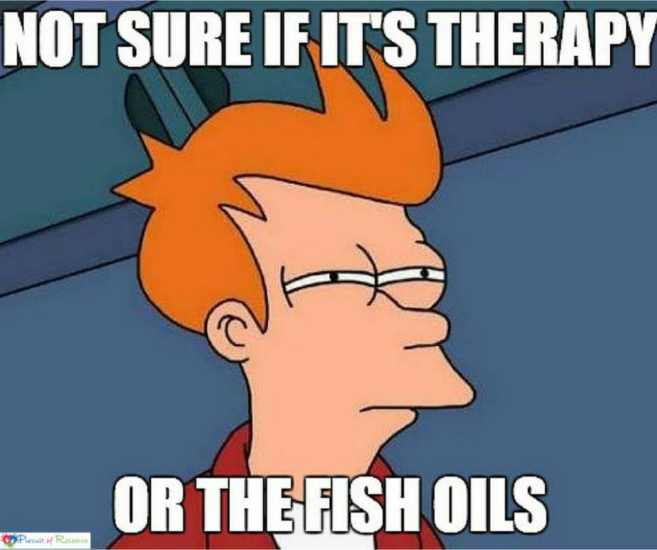 Futurama Fry is not sure about fish oils (it's the fish oils)