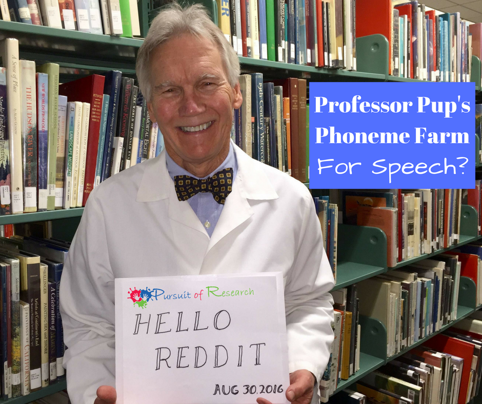 Professor Pup's Phoneme Farm....For Speech?