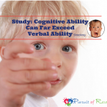 Study: Cognitive Ability Can Far Exceed Verbal Ability (shocking)