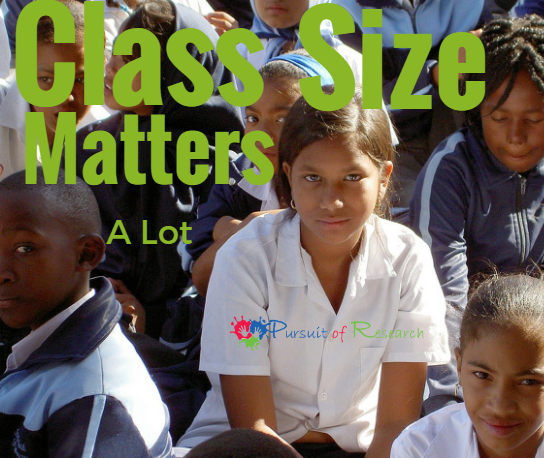 Class Size Matters, And It Matters A Lot