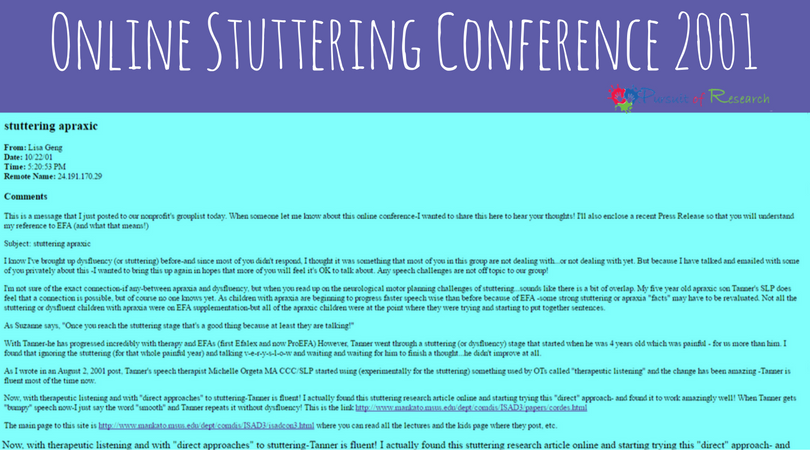 Apraxia First And Now Stuttering Too