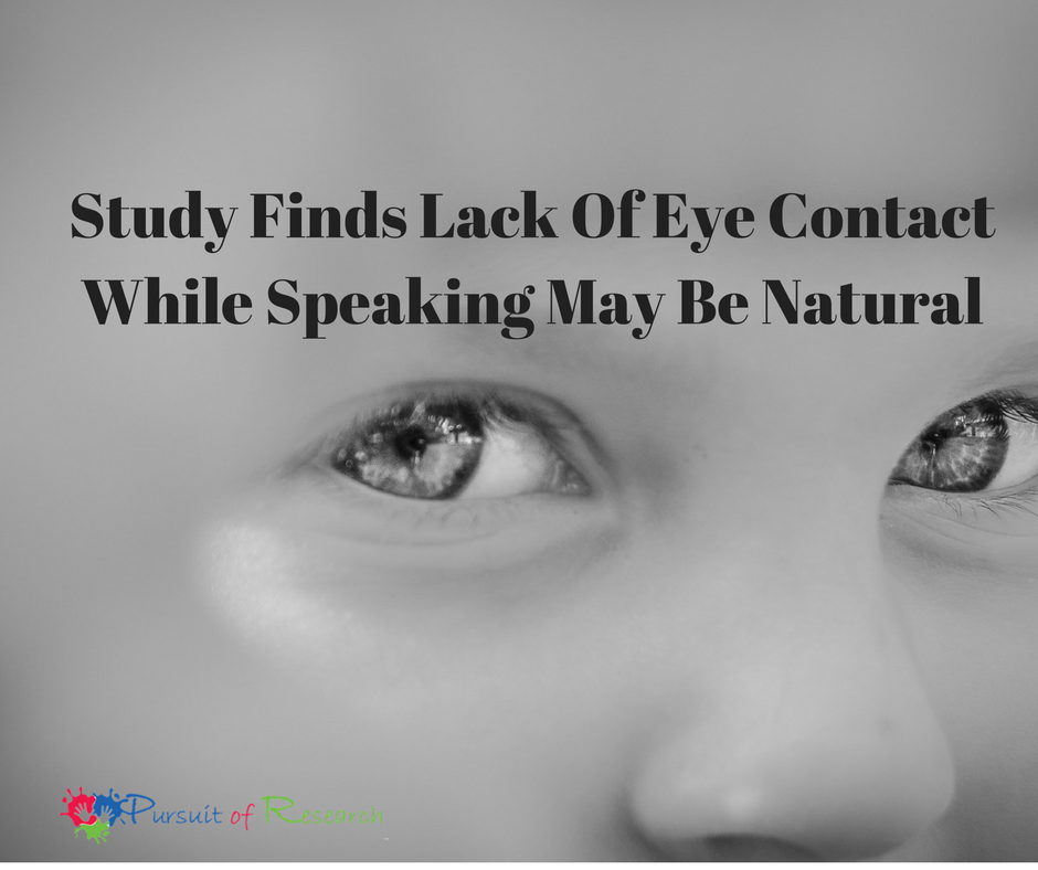 Study Finds Lack Of Eye Contact While Speaking May Be Natural