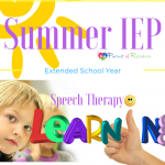 Summer IEP Extended School Year