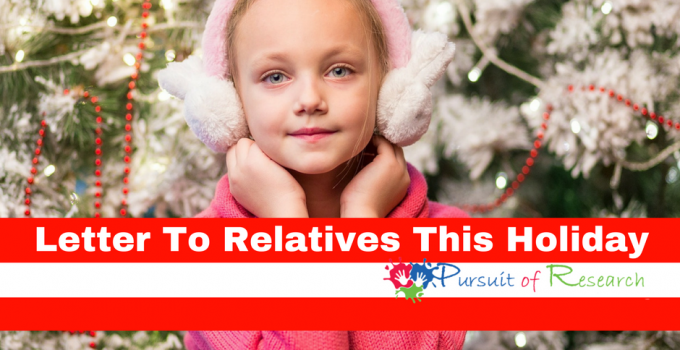 Letter To Relatives This Holiday For Special Needs