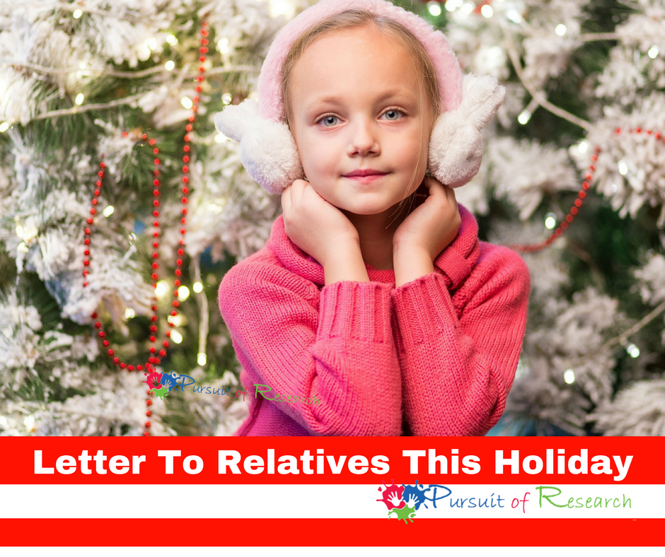 Letter To Relatives This Holiday