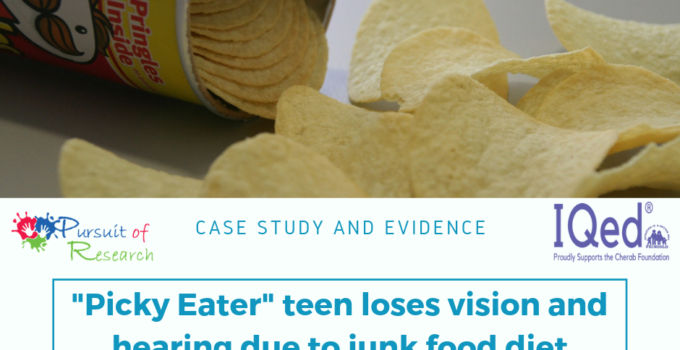 """""""Picky eater"""" teen loses vision and hearing due to junk food diet"""