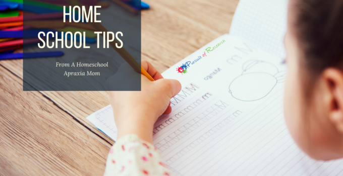 COVID 19 Home School Tips From A Homeschool Apraxia Mom